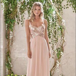 Plus Jasmine Sequin & PolyChiffon Bridesmaid Dress